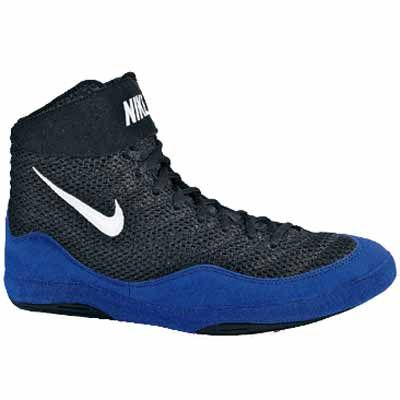Royal Blue and Black Inflict wrestling shoes. Would look great with a Freestyle or Greco Roman wrestling singlet this off season.