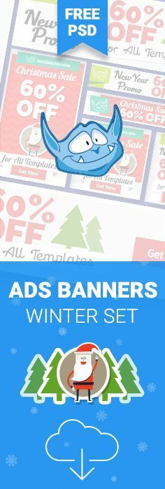 Get FREE New Year & Christmas Ads Banners http://www.templatemonster.com/blog/free-adwords-banners-pack-xmas-new-year-edition/?utm_source=pinterest&utm_medium=tm&utm_campaign=chrads #sale