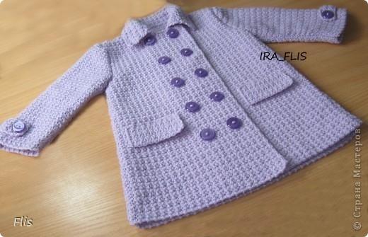 Вязание крючком детское пальто бесплатные схемы