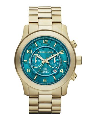 Michael Kors Watch Hunger Stop Oversized 100 Series Watch. On my Bday wish list! : D