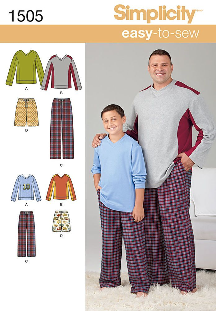 """get comfortable in this loungewear for husky boys and big and tall men. pattern   includes color block long sleeve knit top and drawstring pants or shorts with elastic waist. pants can be knit or   woven.<p></p><p>note: if used as sleepwear, use fabrics & trims that meet the flammability   standards set by the u.s. government.</p><p></p><img src=""""skins/skin_1/images/icon-printer.gif""""   alt=""""printable pattern"""" /><a href=""""#"""" onclick=""""toggle_visibility('foo');"""">printable pattern ter..."""