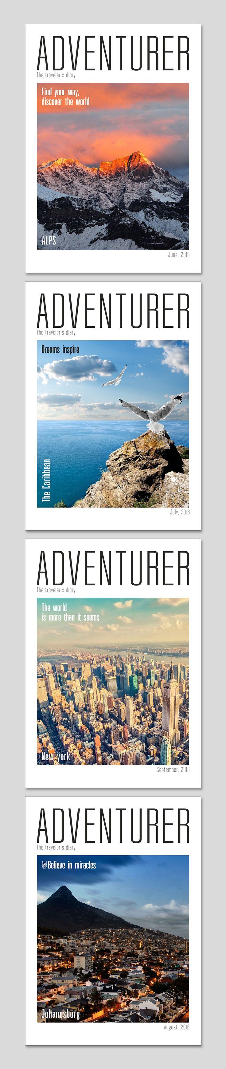 Дизайн обложки журнала путешественника on Behance