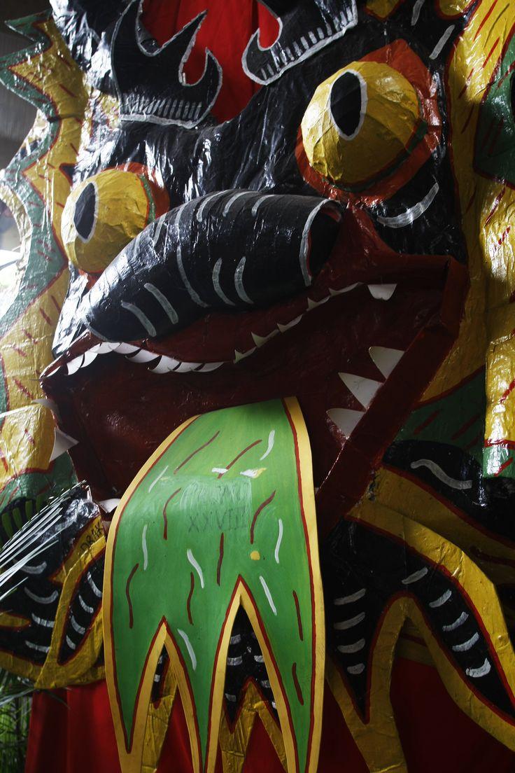 Mascara de los diablos danzantes de yare, una manifestacion cultural declarada este año como patrimonio de la humanidad.