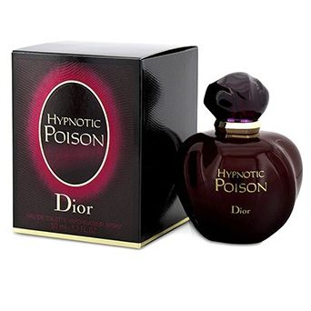 CHRISTIAN DIOR  Hypnotic Poison Eau De Toilette Spray. An oriental vanilla fragrance for contemporary women. Deep, sweet, creamy, warm, feminine & voluptuous. Top notes are apricot, plum & coconut. Middle notes are tuberose, jasmine, Lily-of-the-Valley, rose, Brazilian rosewood & caraway. Base notes are sandalwood, almond, vanilla & musk. Suitable for fall or winter wear
