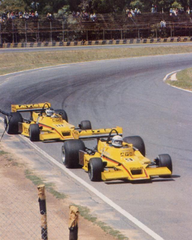 Buenos AIres 1978, Jean-Pierre Jarier (ATS HS1) following team mate Jochen Mass