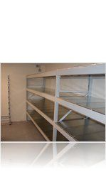 Heavy Duty Longspan shelving with steel decks