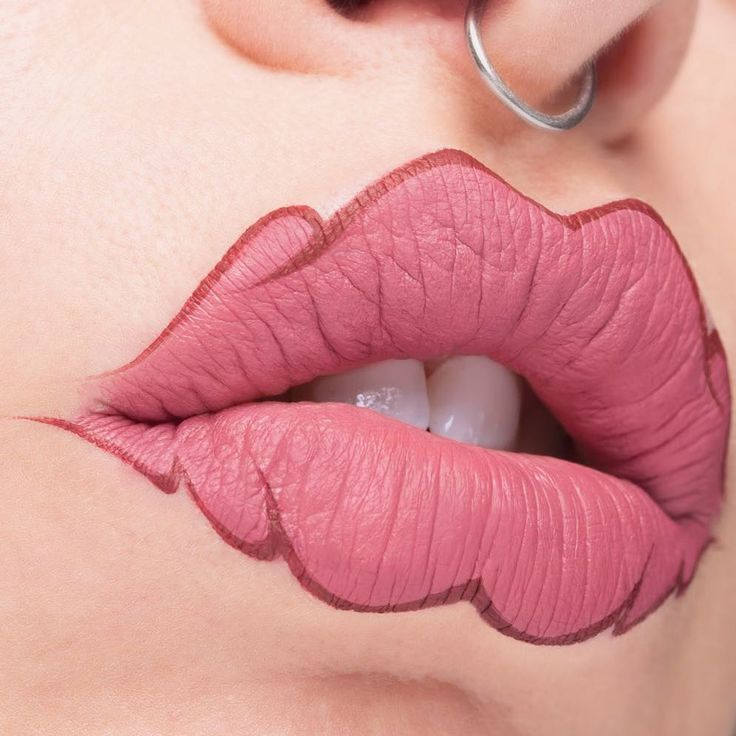 If squiggle brows weren't your thing, you can always try squiggle lips | Metro News