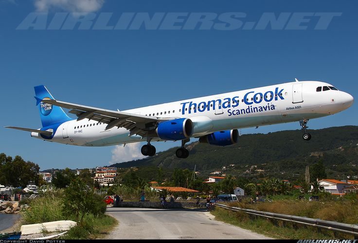 Very low and short final to RWY 02 at Skiathos, Greece.