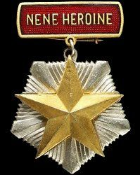 """Republic of Albania: Title """"Mother Heroine"""". Instituted: 2 October 1955. Awarded: To mothers who gave birth to, raised, and educated more than ten children when the youngest is at least one year old. Children who died or were killed during World War II on active duty or died in the performance of duties in the public interest are also included. In 1980, the requirement was downgraded to a minimum of eight children."""