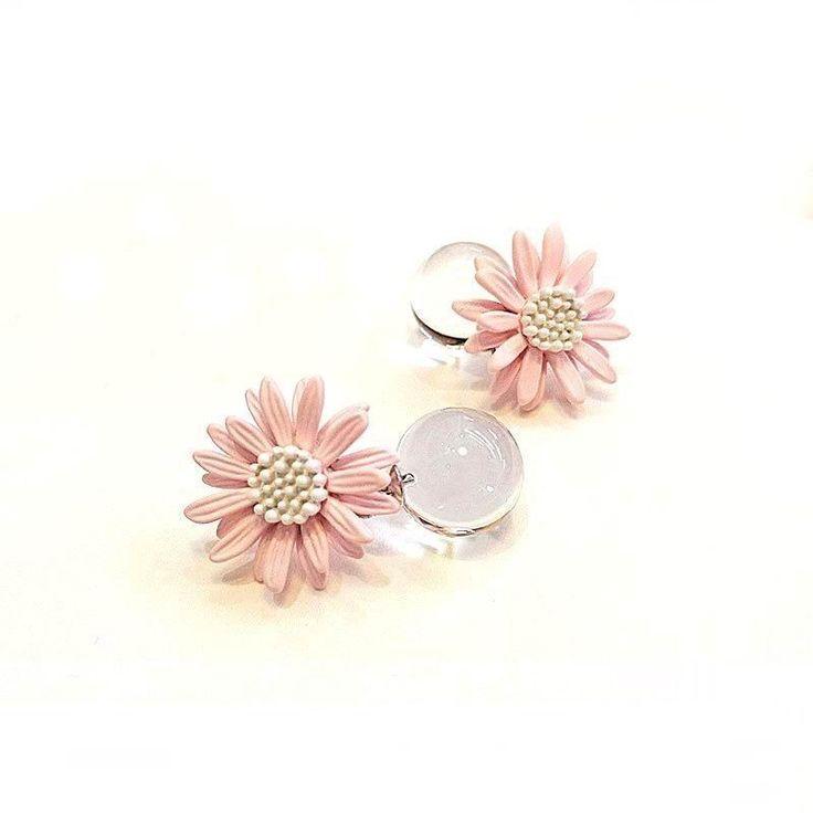 2016 new beautiful bohemian flower crystal ball pendant earrings for women fashion bijoux elegant jewelry wholesale gifts