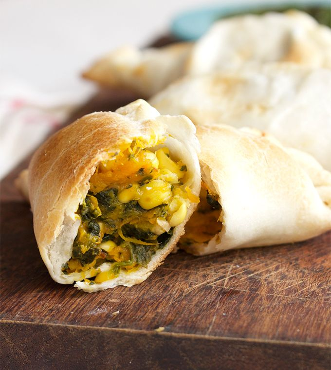 Easy Veggie Empanadas l The Simple Kitchen - use canned butternut squash (with corn, spinach, cheese)