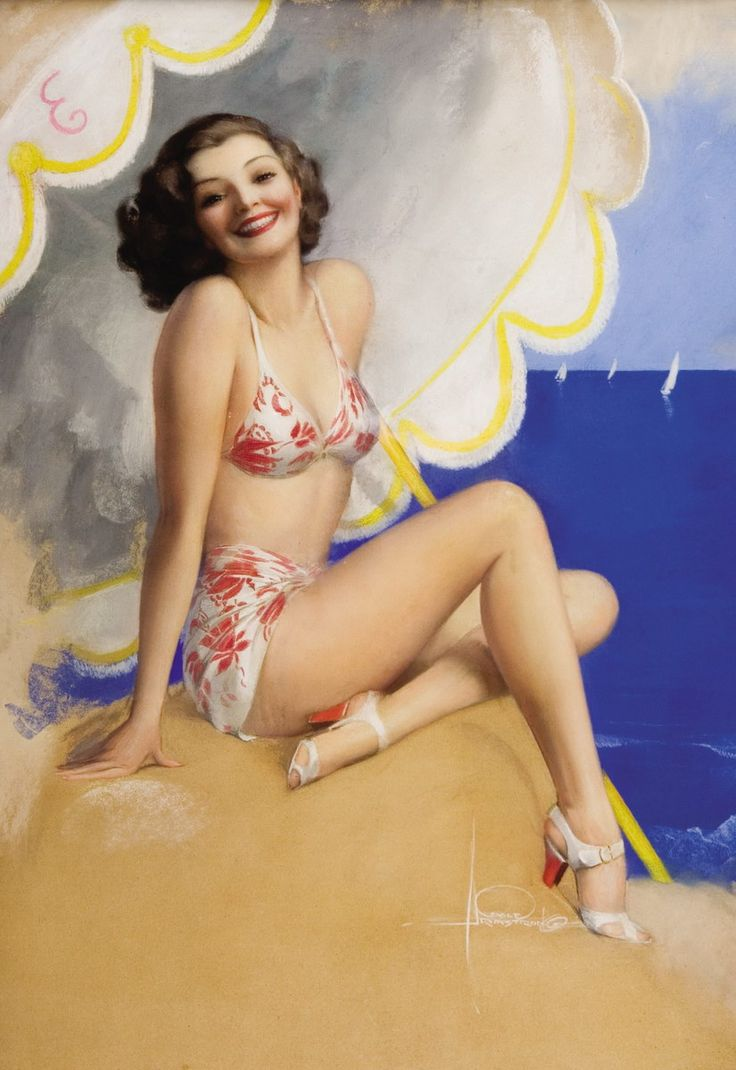 .Artists, Black Hair, Vintage Pinup, Pinup Girls, Bath Suits, Pinup Art, Rolf Armstrong, Vintage Art, Pin Up Girls
