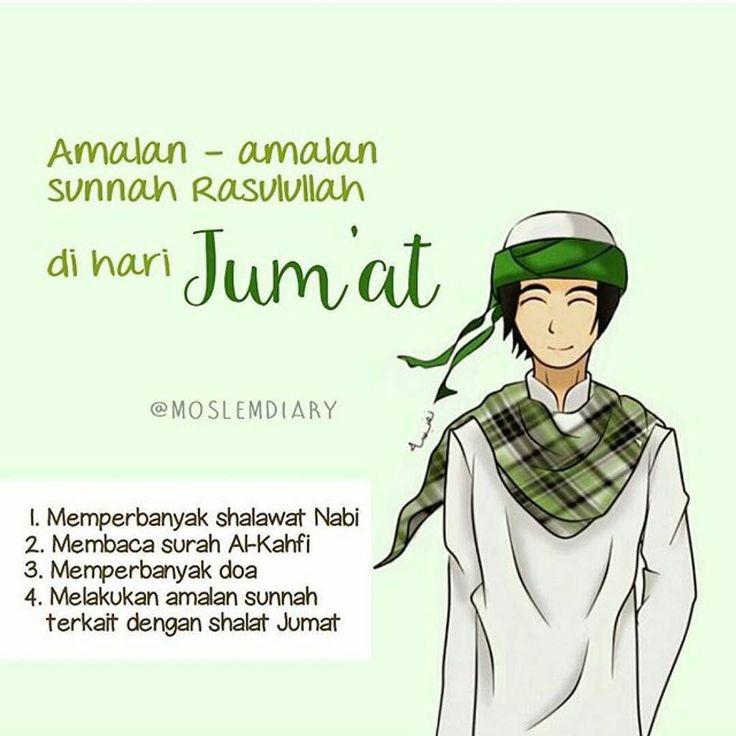 Bismillah . Hari Jum'at itu ialah hari yang sangat istimewa bagi umat muslim Nah masa sih hari yang istimewa ini tidak kita isi buat nambah-nambah pahala? Coba yuuk kita isi Jumat berkah ini dengan amalan amalan sunnah! . Ini nih list amalan sunnah yang dianjurkan Rasulullah di hari Jumat : .  Memperbanyak shalawat Nabi  Rasulullah SAW bersabda Sesungguhnya hari yang paling utama bagi kalian adalah hari Jumat maka perbanyaklah shalawat kepadaku di dalamnya karena shalawat kalian akan…