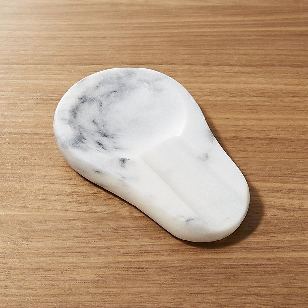 French Kitchen Marble Spoon Rest | Crate and Barrel