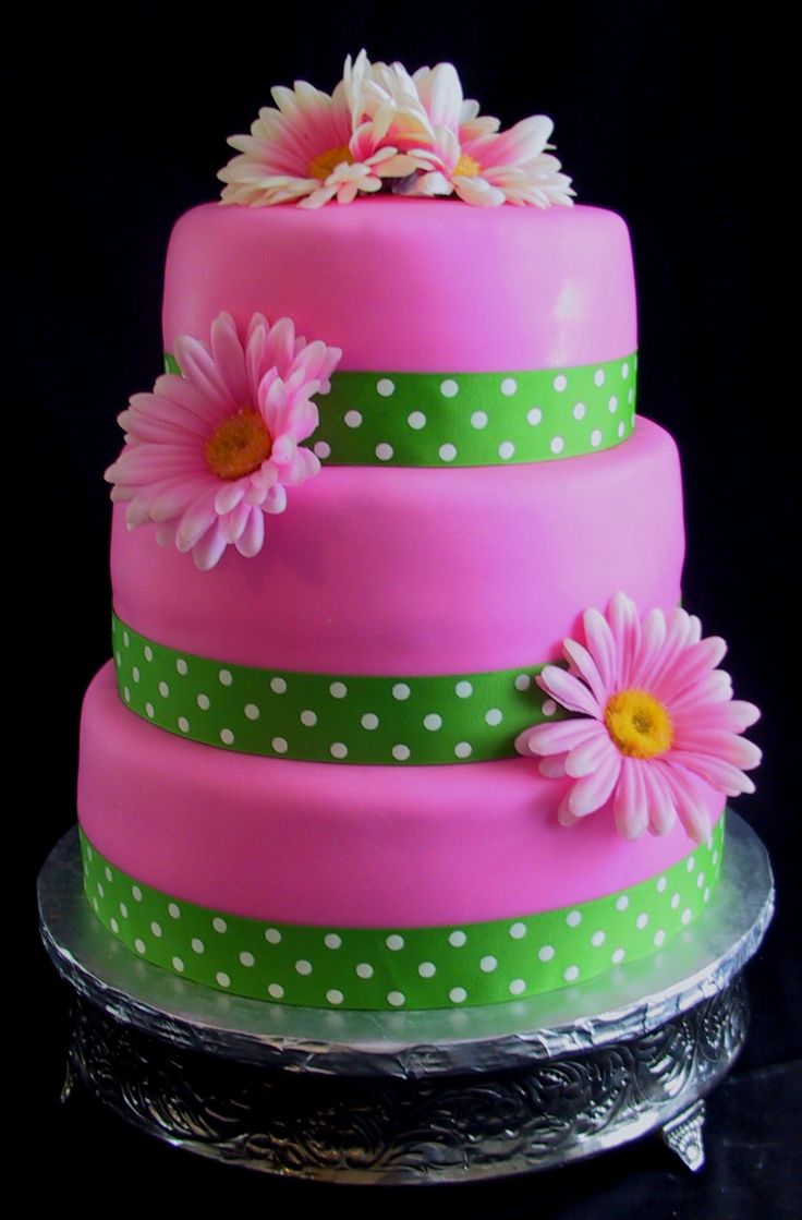 Pink Daisy Cake Decoration : 25+ best ideas about Daisy cakes on Pinterest Flower ...