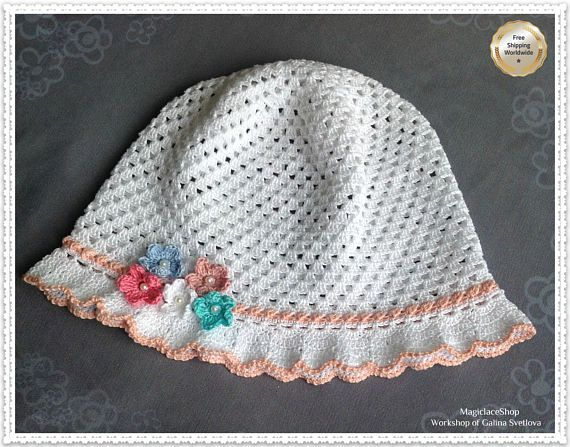 #Crochet_baby_summer_hat #baby_hat #girl_accessories #wide_brim_hat #summer_hat #handmade_hat  #sun_protection_hat #baby_hats #buy_baby_clothes #baby_clothes #children's_clothing #clothing_for_girls #A_gift_for_a_girl #Buy_dress_for_girl