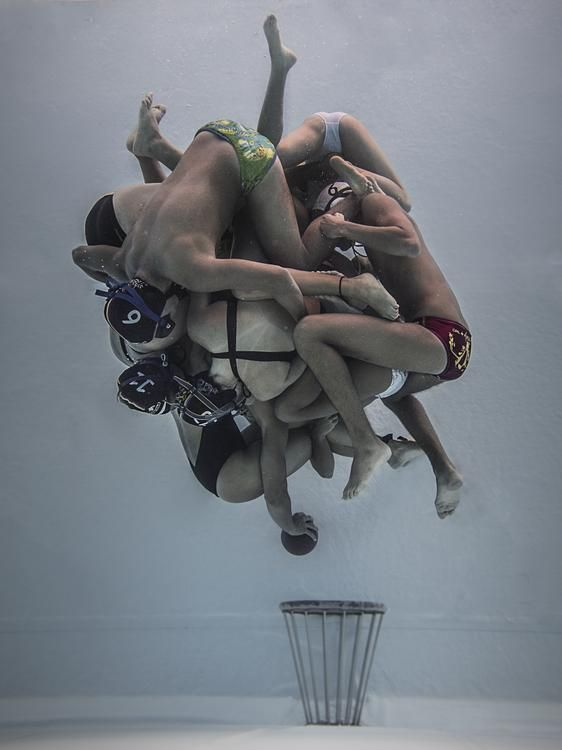 Underwater Rugby Photo by Camilo Diaz — National Geographic Your Shot
