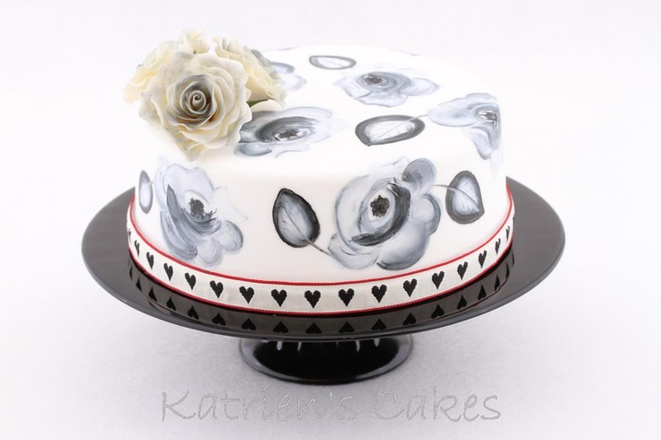 Handpainted flowers www.katrienscakes.co.za and Facebook