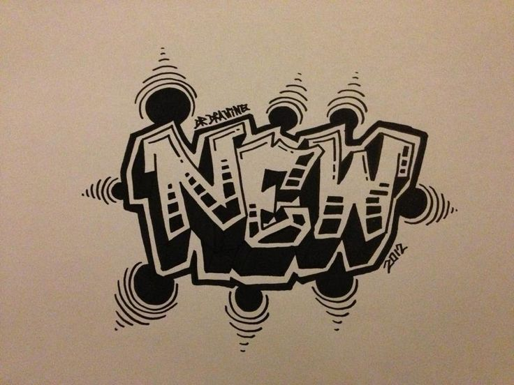 How to draw graffiti Letters - New Style 2012