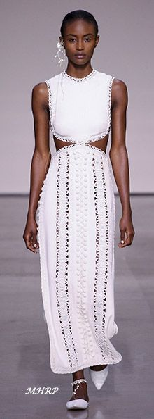 Spring style!! Sharp white dress with cut-outs! Love the white shoes too! Zimmermann Spring 2018