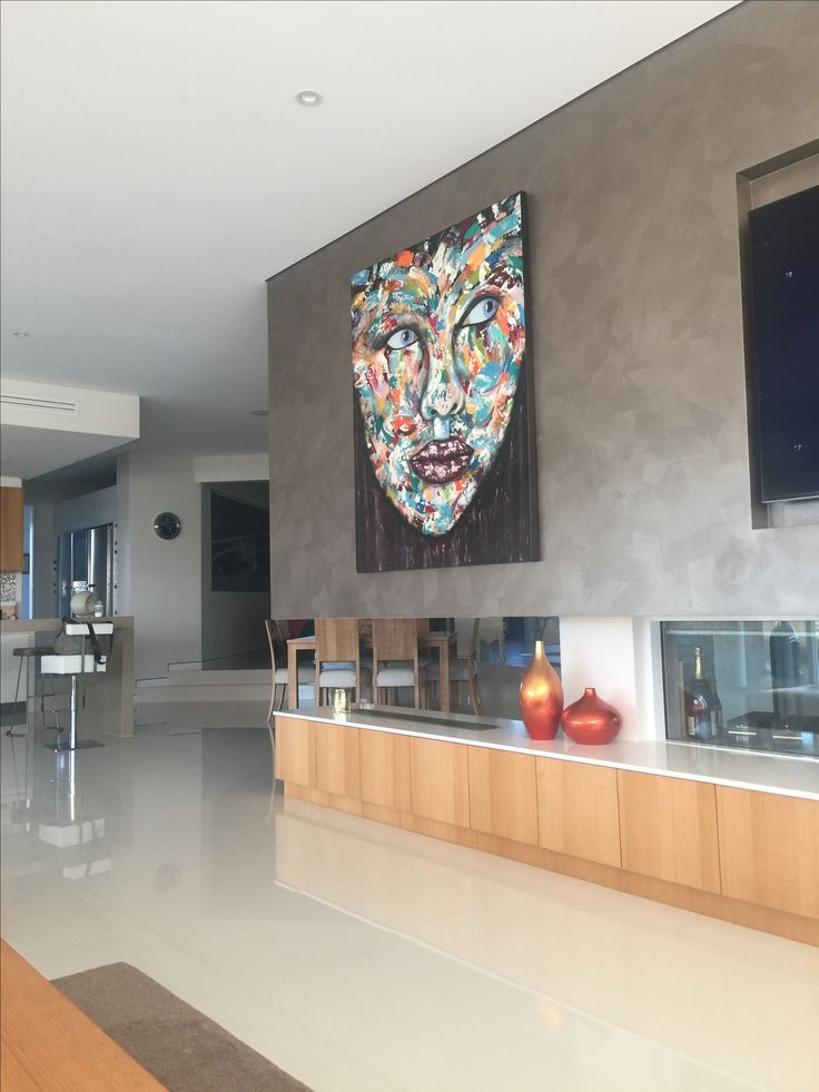 Large acrylic on canvas palette knife technique by artist Glenn Farquhar 120cm x 150cm