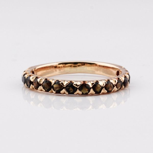 Half Eternity Ring - Rose Gold & Onyx by Jane Heng Jewellery | Jane Heng Jewellery