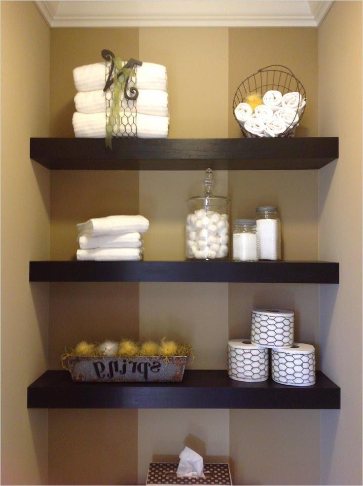 43 Creative Bathroom Shelves Decorating Ideas Decorating