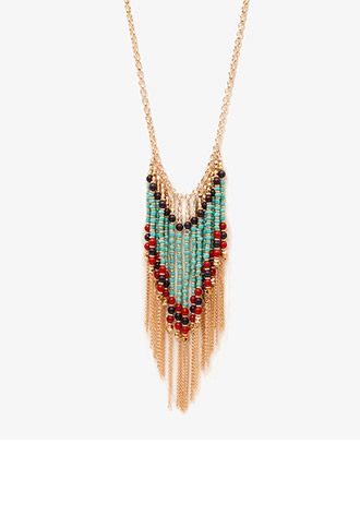Beaded Fringe Necklace | FOREVER21