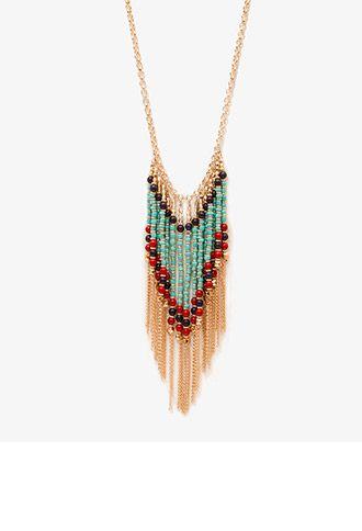 Beaded Fringe Necklace | FOREVER21 - 1047536751