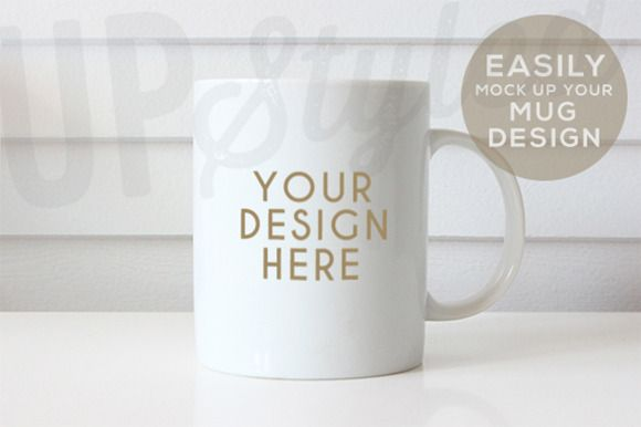 Plain White Mug Mock Up F179 by UpStyled on Creative Market