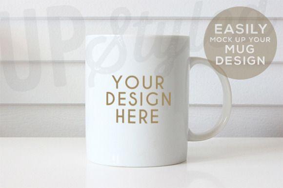 Plain White Mug Mock Up F179 by UpStyled on @creativemarket