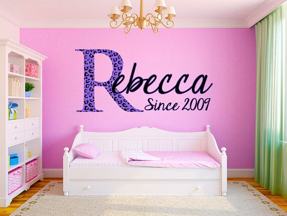 Hey, I found this really awesome Etsy listing at https://www.etsy.com/listing/170163108/leopard-print-name-monogram-girls-room