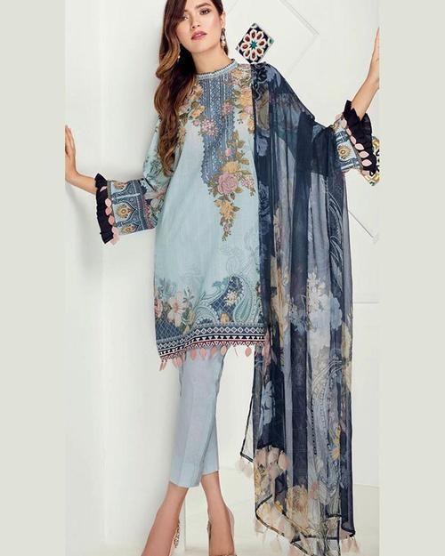 ff3606e12c AL HARAM Presents Chiffon Heavy Embroidered (Replica)(Unstitched). AL HARAM  Presents Chiffon Heavy Embroidered (Replica)(Unstitched) Pakistani Lawn  Suits,