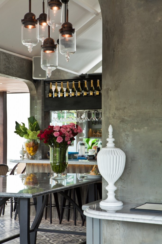 Australian Chef Sean Cosgroves New Petitenget Restaurant Designed By Sydney Based AZB Creative Industrial CafeBalinese InteriorBell