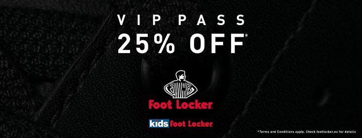 Foot Locker VIP Pass – 25% Rabatt!