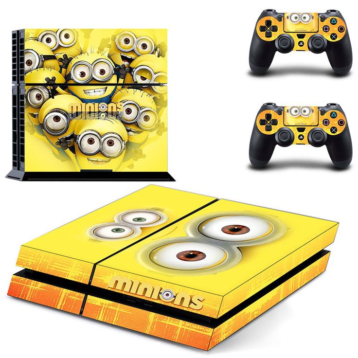 Minions ps4 skin decal for console and controllers dualshock – Decal Design