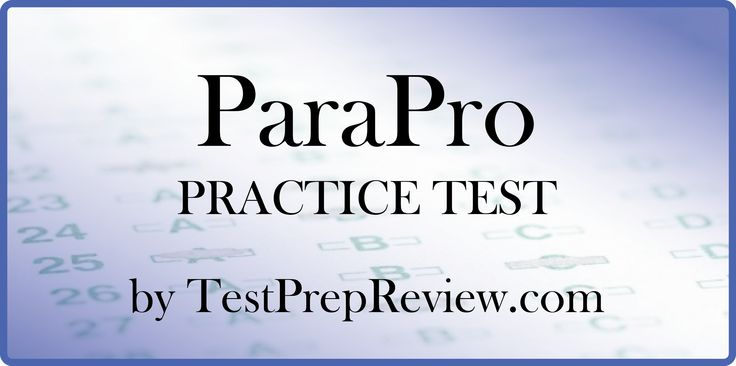 Free ParaPro Practice Test offered by TestPrepReview. ParaPro test study aid.