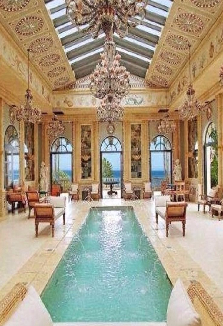 Indoor pool lily pond services llc lifestyle management for Luxury home models