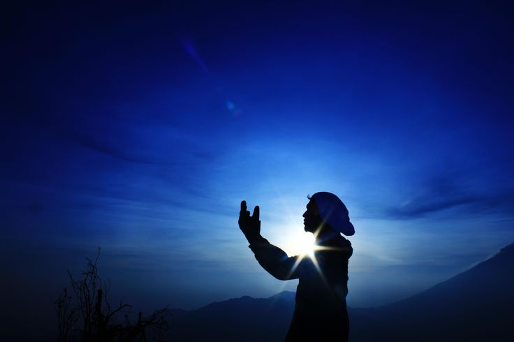 morning pray at Sikunir, Dieng