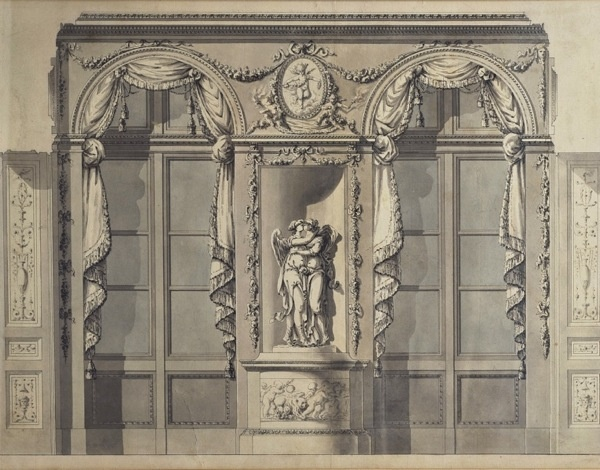 Drawing by feau cie boiserie would make a nice print for Boiserie dwg