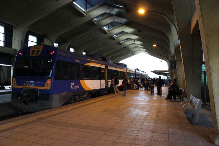 Estación Ferroviaria de Temuco. Anden. Temuco. Chile. Febrero 2014