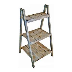 Folding Step Shelf Plant Stand with 3 Tiers in Light Grey | Nebraska Furniture Mart