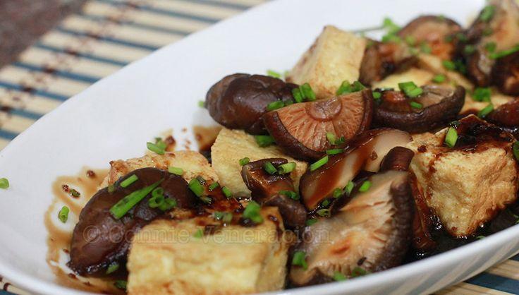 Fried cubes of firm tofu and chunks of shiitake mushrooms drizzled with homemade teriyaki sauce. Voila! Tofu and mushrooms teriyaki.