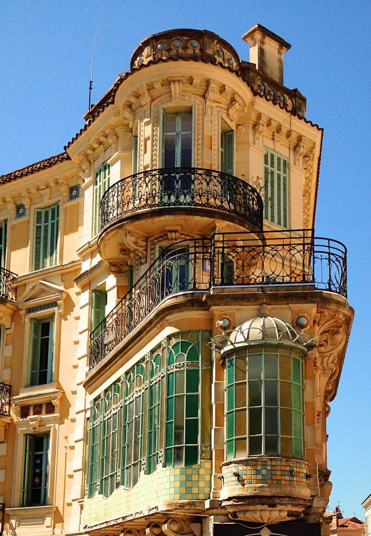 Balconies, Cannes, France photo via syd