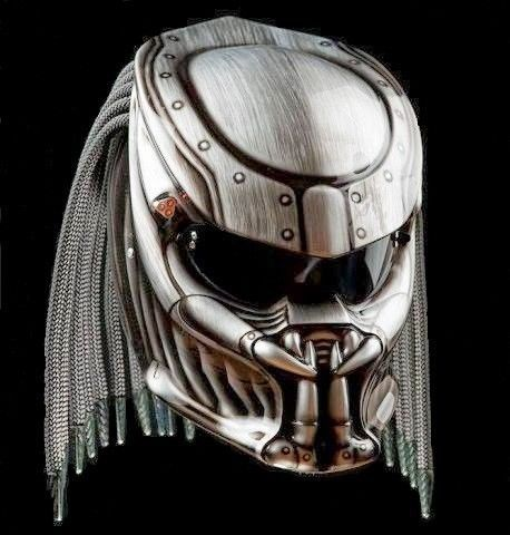 THE ALIEN PREDATOR HELMET MOTORCYCLE FIGHTER DOT APPROVED #CELLOS
