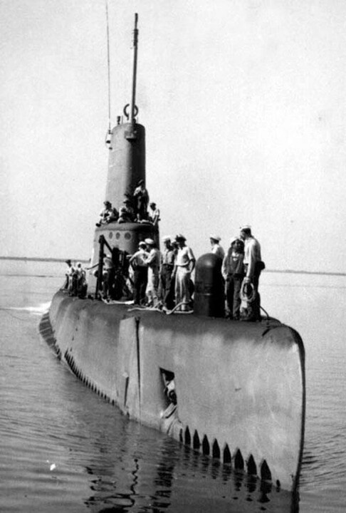 USS Clagmore, June 1945. You can still visit this boat at Patriots Point in Charleston,  SC.