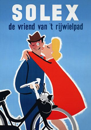 Vintage Solex Bicycle Posters & Prints #velosolex #moped #knallerter