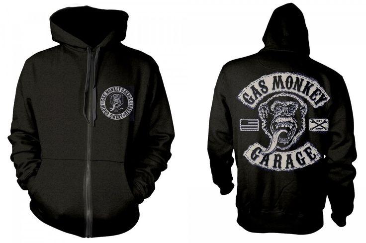 Gas Monkey Garage 'Logo' Zip Up Hoodie - Medium