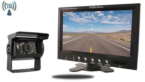 RV Backup Camera Mounted 7'' Wireless Monitor - TadiBrothers.com