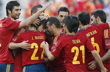 Spanish National Football Team 2012 vs Serbia